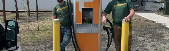 ChargePoint CPE 250 delivered to Superior Electric for City of Fargo's EV fast-charging project.