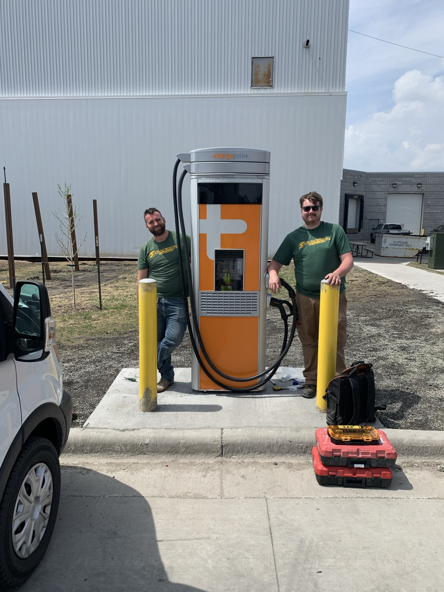 Image number 2 - ChargePoint CPE 250 delivered to Superior Electric for City of Fargo's EV fast-charging project. - Green Ways 2Go