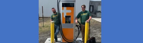 Green Ways 2Go supplied the new EV Fast Chargers for the City of Fargo and helped to promote their use.
